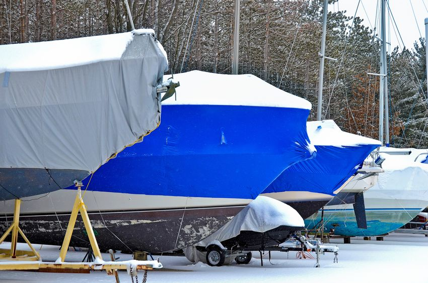 Indoor boat storage or Re-usable Winter Storage Covers? Two more options for winter boat storage.