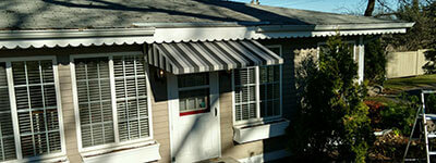 house with an awning