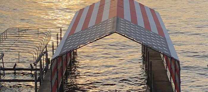 custom American flag boat dock cover