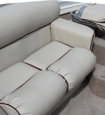 Upholstered boat seats
